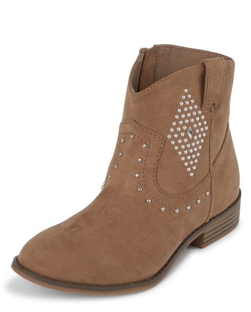 Girls Studded Cowgirl Boots