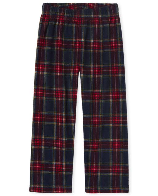 Pantalones De Pijama De Lana A Cuadros Para Ninos