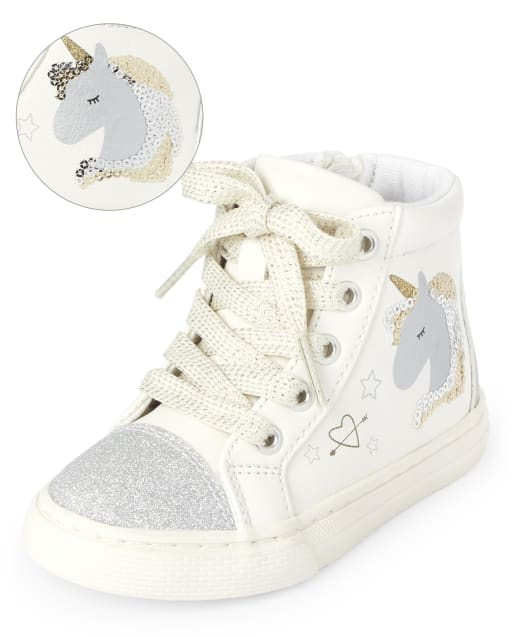Toddler Girls Unicorn Hi Top Sneakers