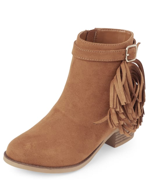 Girls Fringe Booties