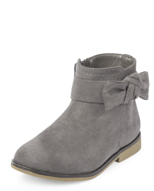 Toddler Girls Bow Faux Suede Booties