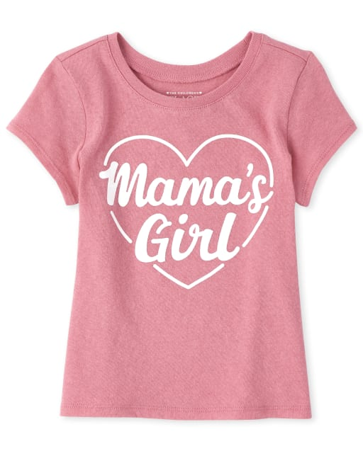 Baby And Toddler Girls Short Sleeve 'Mama's Girl' Graphic Tee