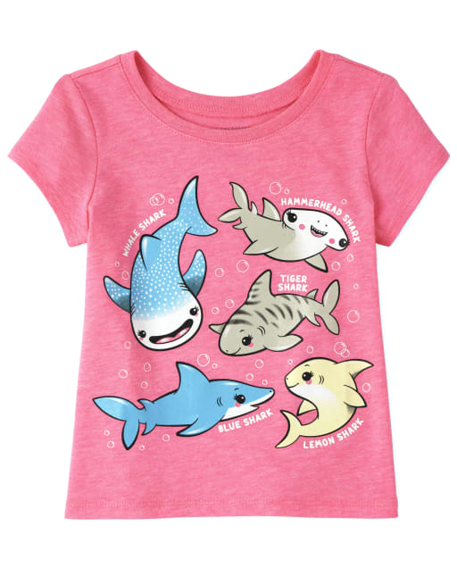 Toddler Girls Short Sleeve Graphic Tee