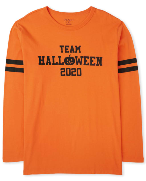 Unisex Adult Matching Family Halloween Long Sleeve 'Team Halloween 2020' Graphic Tee