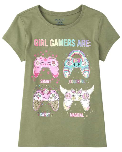 Camiseta estampada con videojuego Girls Glitter