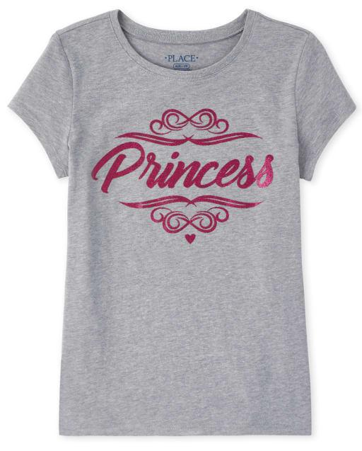 Camiseta estampada Princess Glitter para niñas