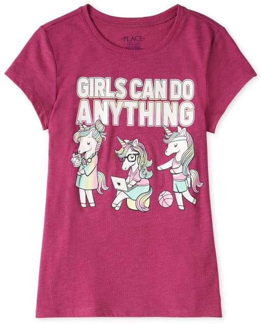 Camiseta gráfica Las chicas pueden hacer cualquier cosa