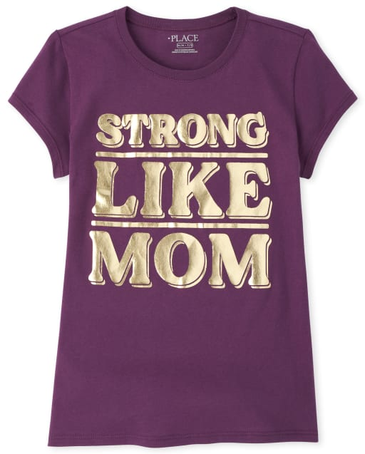 Camiseta estampada Girls Foil Strong Like Mom