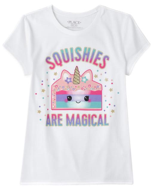 Camiseta estampada con pastel Squishies Glitter para niñas