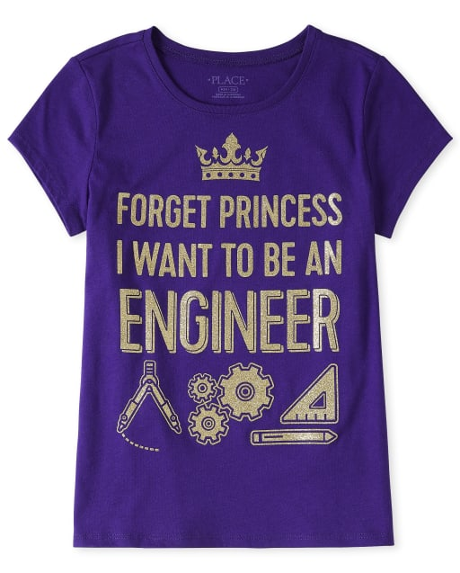 Camiseta estampada Engineer para niñas