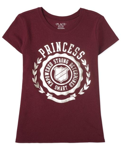 Camiseta estampada Princess para niñas