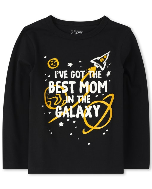Baby And Toddler Boys Long Sleeve 'I've Got The Best Mom In The Galaxy' Graphic Tee