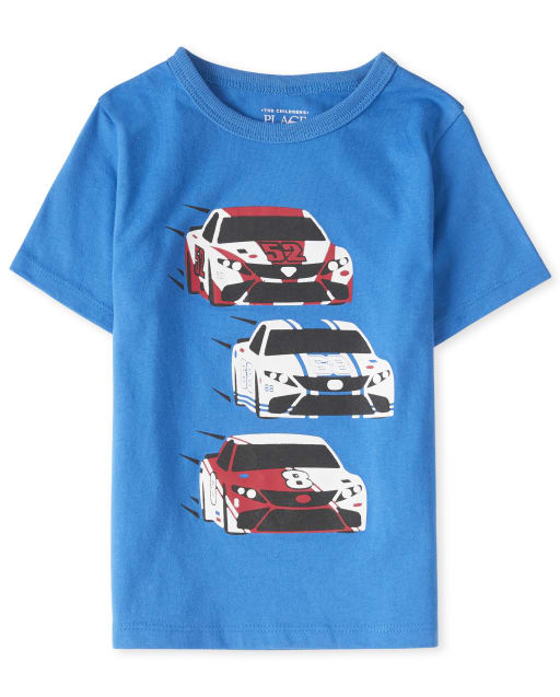 Baby And Toddler Boys Short Sleeve Racecar Graphic Tee