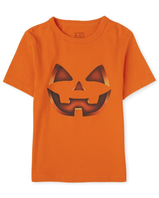 Baby And Toddler Boys Halloween Short Sleeve Pumpkin Graphic Tee