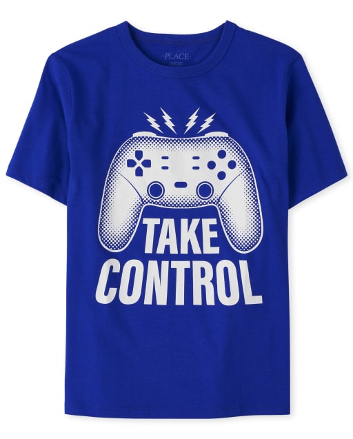 Boys Short Sleeve 'Take Control' Video Game Graphic Tee