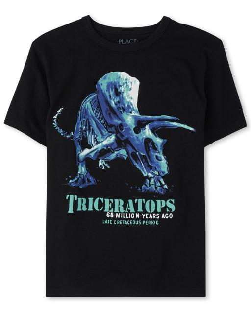 Camiseta estampada Triceratops para niños