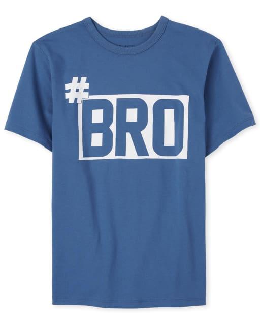 Boys Short Sleeve 'Hashtag Bro' Graphic Tee