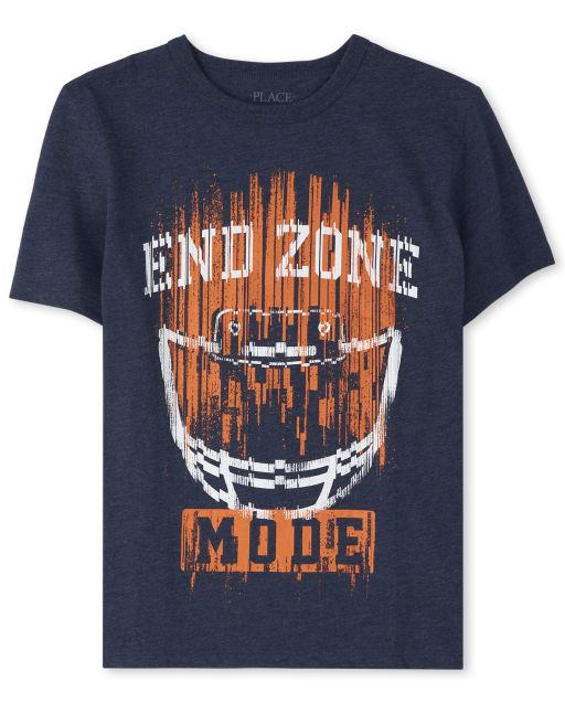 Camiseta estampada de fútbol para niños End Zone