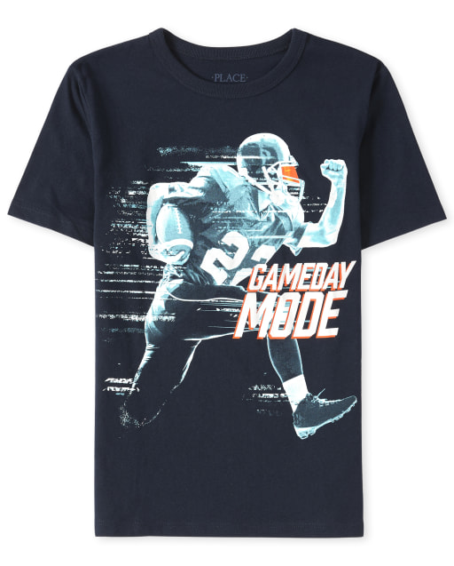 Boys Short Sleeve 'Gameday Mode' Football Graphic Tee