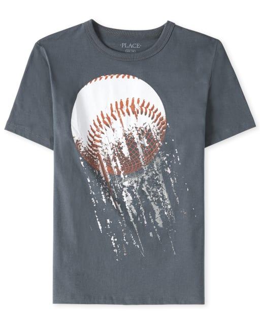 Camiseta estampada de béisbol para niños