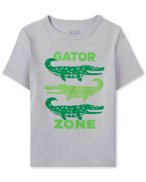 Baby And Toddler Boys Short Sleeve 'Gator Zone' Graphic Tee