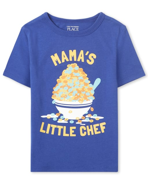 Baby And Toddler Boys Short Sleeve 'Mama's Little Chef' Graphic Tee