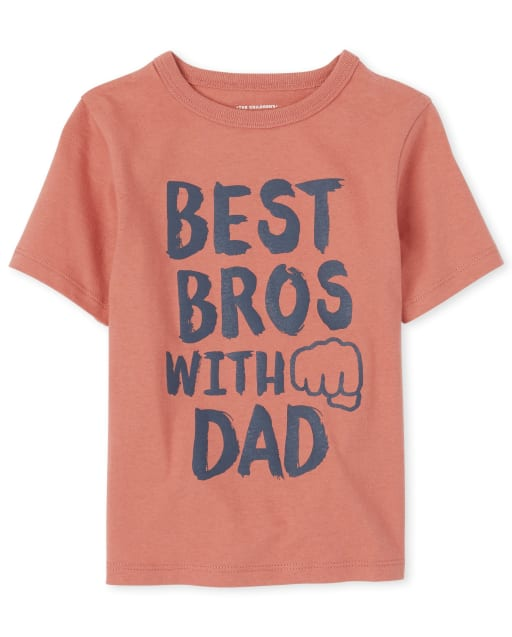 Baby And Toddler Boys Short Sleeve 'Best Bros With Dad' Graphic Tee