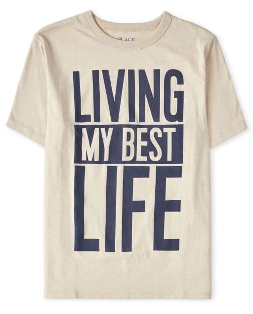 Camiseta estampada Best Life de niños
