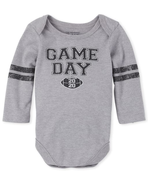 Unisex Baby Matching Family Long Sleeve 'Game Day 2020' Football Graphic Bodysuit
