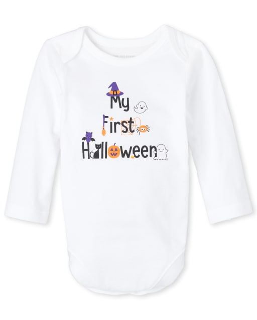 Body unisex de manga larga de Halloween para bebé ' My First Halloween 2020 ' Body con estampado