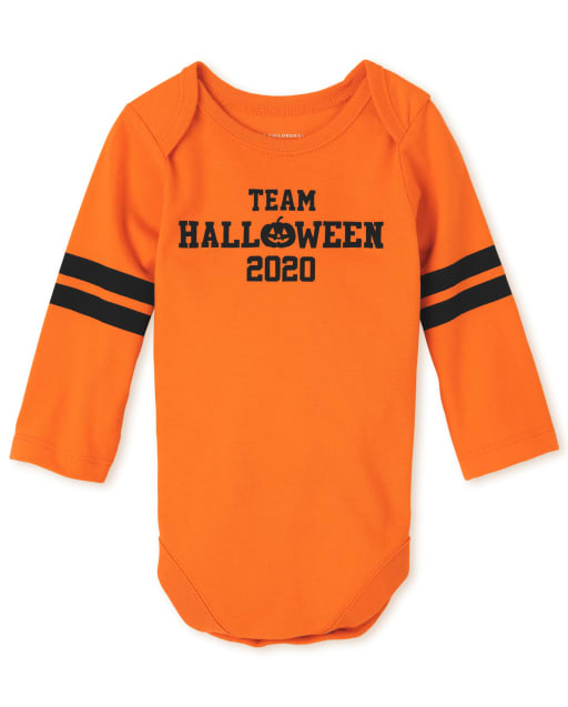 Unisex Baby Matching Family Halloween Long Sleeve 'Team Halloween 2020' Graphic Bodysuit