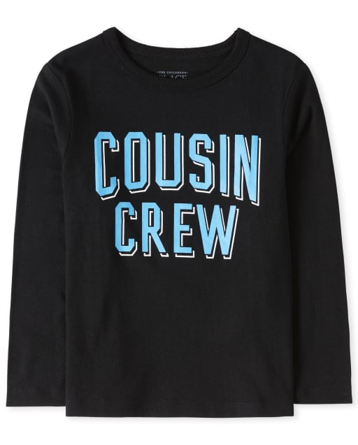 Baby And Toddler Boys Long Sleeve 'Cousin Crew' Graphic Tee