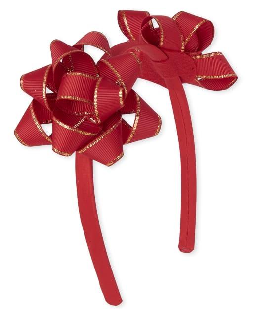 Girls Christmas Bow Headband