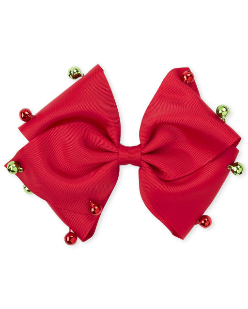 Girls Christmas Bell Bow Hair Clip