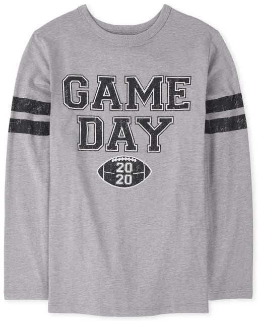Unisex Kids Matching Family Long Sleeve 'League All Star' Football Matching Graphic Tee