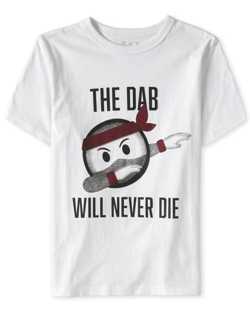 Boys Short Sleeve 'The Dab Will Never Die' Dancing Ninja Graphic Tee