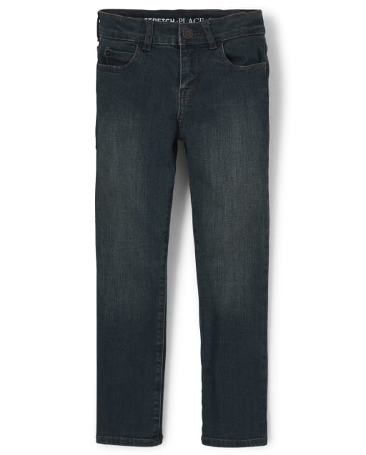Boys Basic Straight Jeans - Dry Indigo Wash