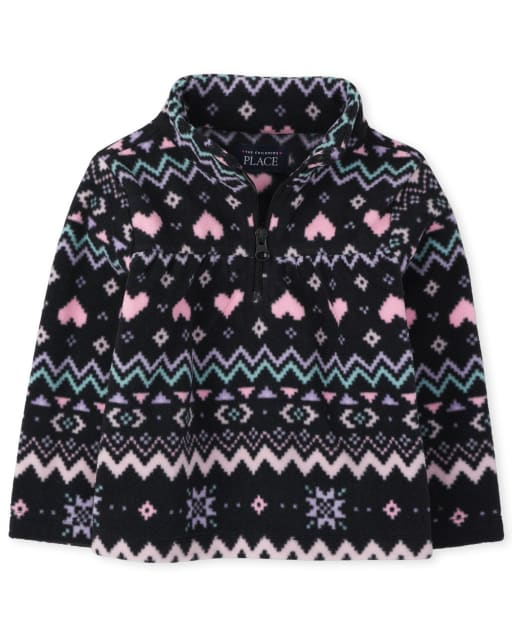 The Childrens Place Baby Girls Pull Over Microfleece Top