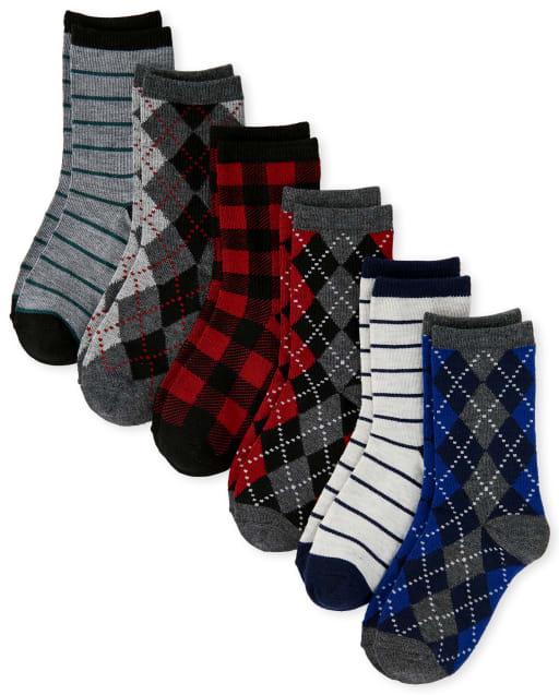 Pack de 6 pares de calcetines deportivos Argyle Dressy para niño