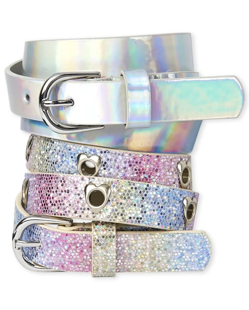 Girls Rainbow Belt 2-Pack