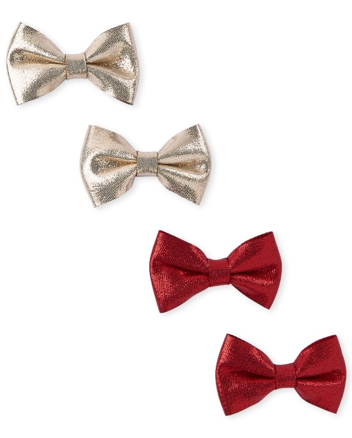 Girls Bow Hair Clip 4-Pack