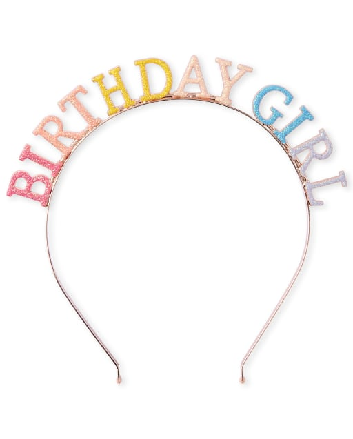Girls Glitter Birthday Metal Headband