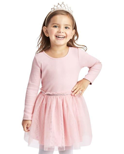 Vestido de tutú tejido a tejido para niñas pequeñas