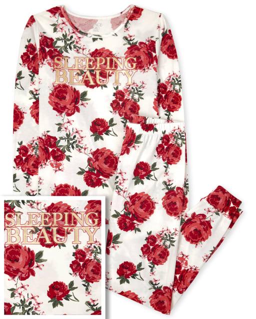 Pijama de algodón a juego con estampado floral Mommy And Me Beauty para mujer