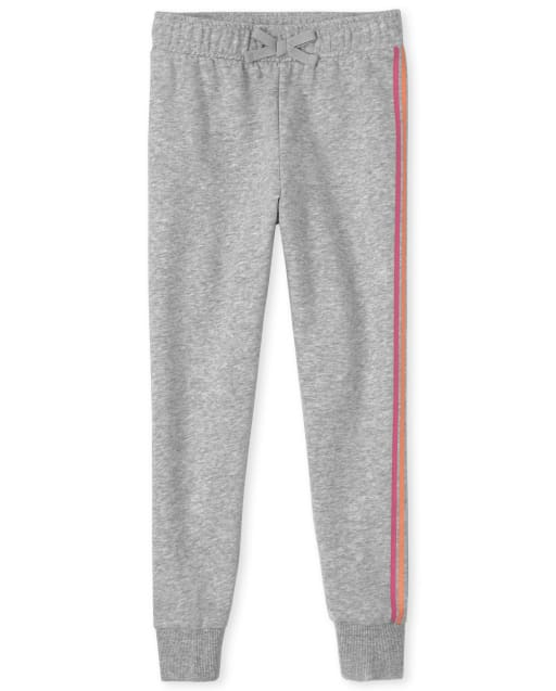 The Childrens Place Girls Uniform Active French Terry Jogger Pants