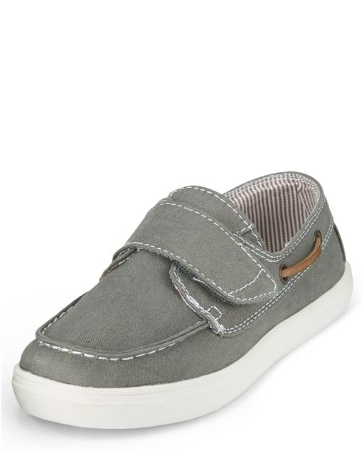Boys Chambray Boat Shoes