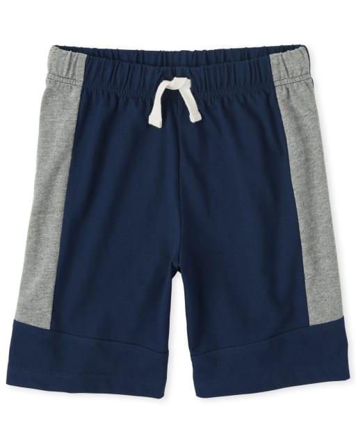 Boys Mix And Match Colorblock Knit Shorts