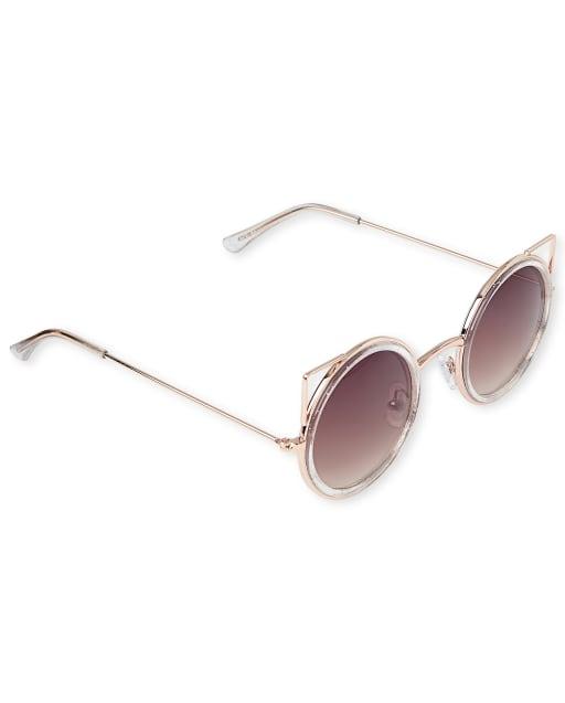 Girls Round Cat Sunglasses