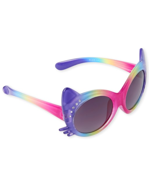 Toddler Girls Rainbow Ombre Cat Sunglasses