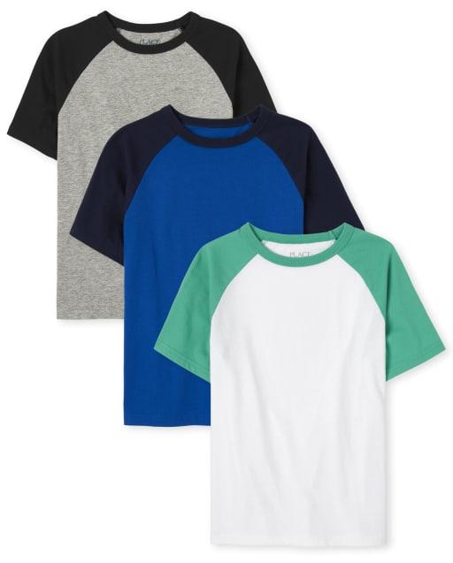 Pack de 3 camisetas raglán para niños